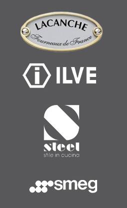 Logo Lacanche,  ILVE,  Steel,  Smeg