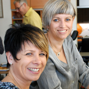 Die Planungsprofis: Andrea Ewen und Susanne Bauer